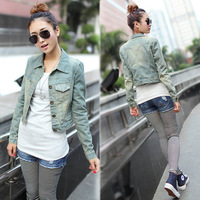 New arrival 1238 spring slim short design denim short jacket outerwear female fashion