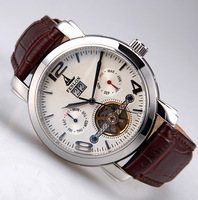 Male watch mens watch tourbillon strap fully-automatic mechanical watch trend waterproof fashion exude table