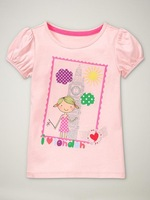FREE SHIPPING baby t-shirt,wholesale 6pcs/lot boy's tshirt,baby tees    5449 beautiful girls wear