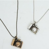 74134 accessories vintage small camera necklace