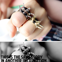 Min.order is $10 (mix order)Free Shipping 71293 accessories fashion vintage punk rivet ring finger ring female