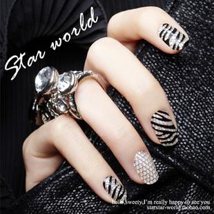 Diy three-dimensional 79074 3d crystal full rhinestone diamond nail polish oil diamond stickers fangzuan nail art applique