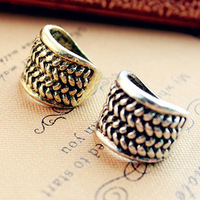 Min.order is $10 (mix order)Free Shipping 71288 accessories fashion knitted stripe vintage punk ring finger ring