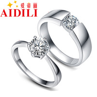 925 pure silver stud earring fashion female male lovers ring married pinky ring silver jewelry finger ring