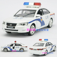 Free shipping Beijing modern police car acoustooptical WARRIOR alloy car model toy