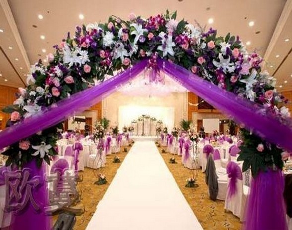 Popular wedding arch from china best selling wedding arch for Artificial flowers for wedding decoration