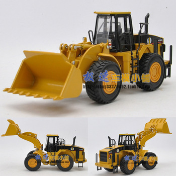 Free shipping Huayi Large alloy engineering car forkfuls bulldozer alloy car model