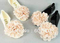 Bohemian chiffon flower jelly sandals flat non-slip bottom fish head sandals