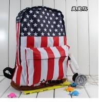 Free Shipping! New America USA US Flag Women Men Fashion Casual School Bag Campus shoulder Bag Backpack