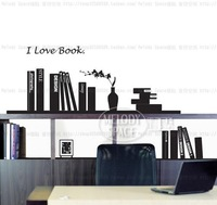 I love book Home room Decor Removable Wall Sticker/Decal/Decoration B400140