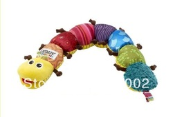 Lamaze Musical Inchworm Stuffed Plush Baby Toys Educational Children Toy 60CM / 24 Inch Retail Free Shipping(China (Mainland))