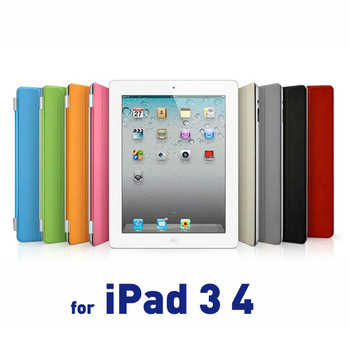 Free Shipping 8 Color Aluminum Hinge Magnetically Aligns Leather Case Smart Cover for iPad 2 3 4