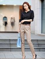 Women's Casual pants suit pants  plus size female harem pants formal slim skinny pants Free Shipping