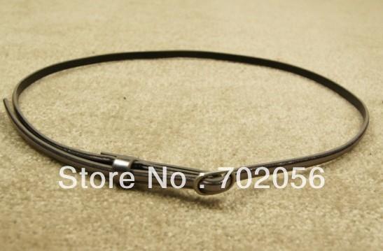 Ladies PU Leather Thin Skinny Waistband Belt Fashion Belts 100 CM Length #2813(China (Mainland))