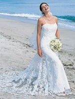 Freeshipping 2012 Manufacturer promotion Spaghetti Strap Organza &Lace Wedding dress Bridal Gown dresses veil free