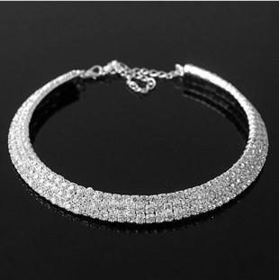 XS008 Fashion Imitation full Diamond Marriage celebration party Necklace Pendant Jewelry Accessories