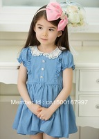 free shipping 2013 hot sale children clothing ruffle dress for girls baby casual dress princess summer comfortable dress ds004