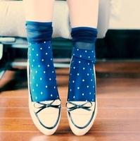 Min Order $10(mixed order) Free Shipping !  Women's Cute Fashion Sexy Velet  Dot Socks