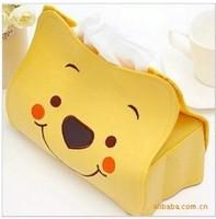 Lovely Bear Creative Paper Tissue Boxes holder push storage napkin box 30pcs/lot fedex fast shipping big discount!