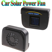 Solar Power Car Auto Cool Air Vent With Rubber Stripping car ventilation fan free shipping Wholesale