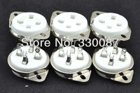 10pcs*4pin ceramic vacuum tube socket for 300B/2A3/811/45/71A/5Z3/572B  stereo tubes