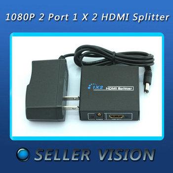 1080P 2 Port 1 X 2 HDMI Splitter Switcher For HDTV PS3 DVD