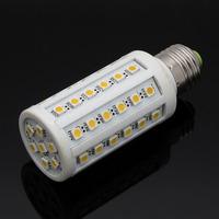 free shipping 5050 SMD 55 Leds 15w e27 led light lamp bulbs 360 degree warm white / pure white corn lamp home use ac 110v 220v