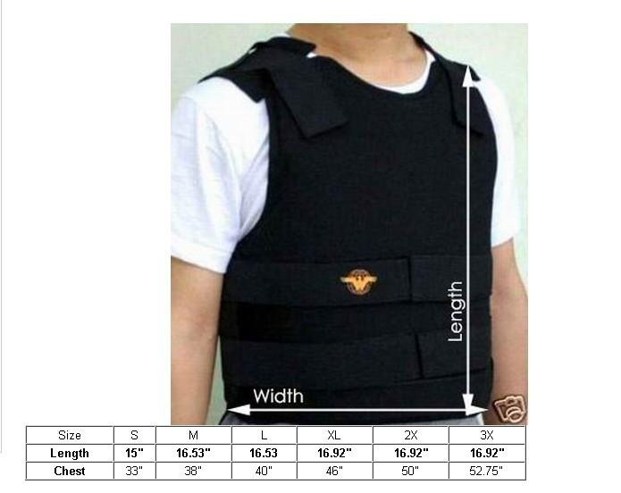 Kevlar Bullet Proof Vest Size L Bulletproof Level IIIA Bullet Proof Vest(China (Mainland))