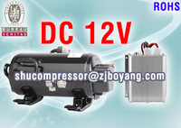 12Volt electric EV Vehicle compressor for auto ac truck sleeper Mass Transit Military Marine Electronics
