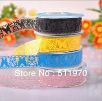 Free shipping New design Korea Diy photo album lace decorative adhesive tape mobile decoration tape notebook sticker 5rolls/lot