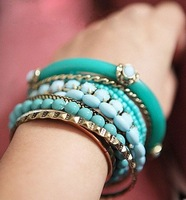 Min. order is $15(mix order)Factory price, fashion jewelry,Folk style series multilayer hot all-match Beaded Bracelet