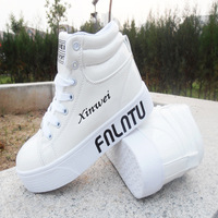 Spring fashion letter shoes women's platform shoes sneaker high single shoes hip-hop shoes