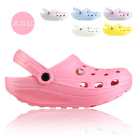19.9 ! thick female hole shoes sandals wedges massage shoes high-heeled shoes mules swing 350g