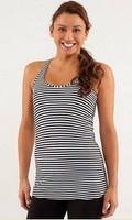 lulu tank Lady Sport  Athletic tops yoga wear tank Women's  fashionable popular striped clothes