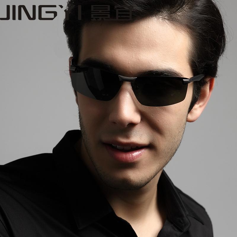 Men sunglasses men drive car mirror sunglasses polarized light aluminum and magnesium(China (Mainland))