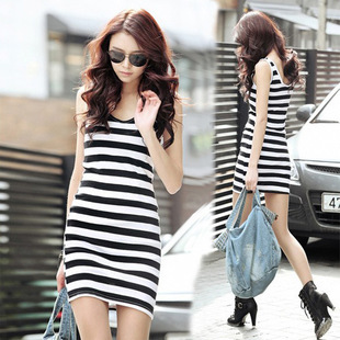 2013 new Korean Hot Modal steak girl's dress Suitable for students cheap Apearl /wholesale women's clothes free shipping A002(China (Mainland))