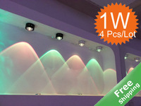 LED ceiling light+ 1W + 90-265V + 7 Colors for option+ Indoor decoration + 4pcs/Lot + Free shipping