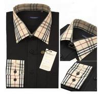 2014 Men Fashion cotton dress shirt men's designer shirts brand slim fit shirt plus size