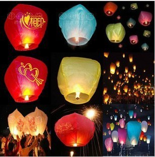 30PCS Holiday Sky Lanterns Wishing ~ heart guesser would Lanterns Valentine Birthday lamps