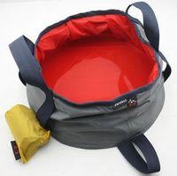 2 Pcs/lot Outdoor Camping Folding Water Basin Bucket Fishing Foldable Basin Free Shipping