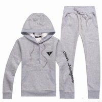 Grey/Black New Arrival Casual Women Hoodies Sportswear Tracksuits Comfortable Pullover Fleeces S-XL