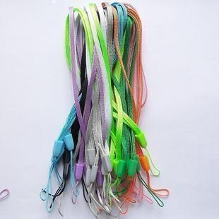 100pcs/lot NEW Solid color short lanyard cell mobile phone chain  usb flash drive mp3 multicolour GIFT