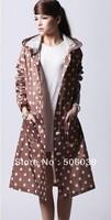 free shipping  fashion imitation windbreaker raincoat poncho ultra-thin personality fashion dot raincoat