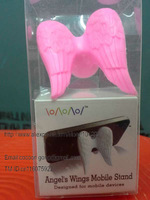 Free shipping 100pcs angel's wings mobile stand