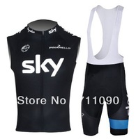 Free shipping!2013 SKY team cycling vest and bib shorts/bike clothes/Ciclismo jersey/sleeveless cycling jersey/bicycle wear