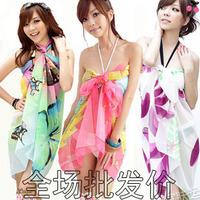 Swimwear bikini mantillas scarf yarn beach towel magicaf all-match 100 150