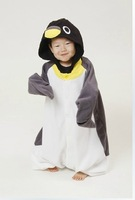 Gray penguin child animal paragraph one piece sleepwear lovers lounge family fashion costume