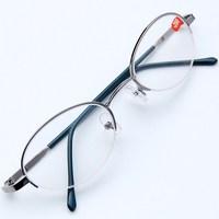Oval titanium alloy frame box picture frame white resin lenses finished product myopia glasses
