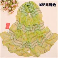 Autumn and winter female silk scarf cape chiffon scarf long silk scarf female