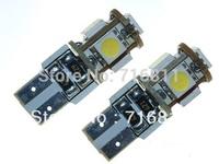 Free Shipping 10pcs/lot Car ERROR FREE CANBUS W5W T10 5050 LED SIDE LIGHT Interior Light BULB 5SMD